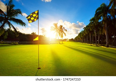 Luxury summer vacation; Tropical Golf Club course in the countryside