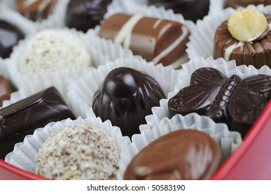 luxury and sweet praline and chocolate decoration food close up