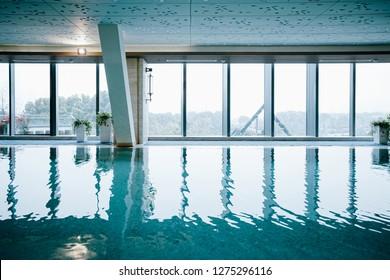 Luxury swimming pool, part of luxury hotel.