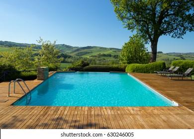 Luxury Swimming Pool, Urbino Resort, Late April 2017, Urbino, Italy