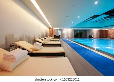 Luxury swimming pool,part of luxury hotel.