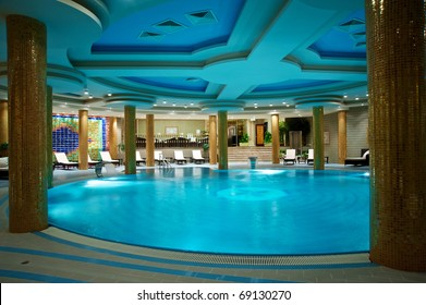 Luxury swimming pools in a spa hotel