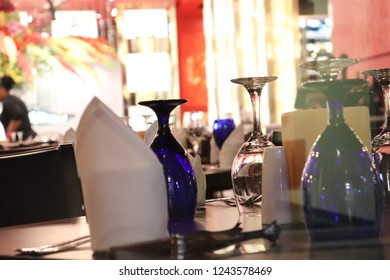 Luxury Table setting for party, Christmas, holidays and weddings.