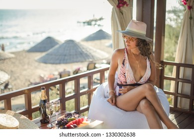 Luxury travel. Summer holiday girl enjoying vacation
