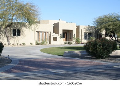 A luxury upscale home in an Arizona suburb