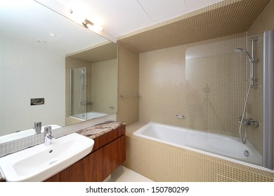 luxury and very clean toilet in european style