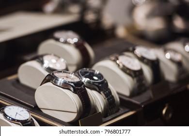 Luxury watches in detail