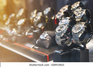 Luxury watches in detail - store in London.