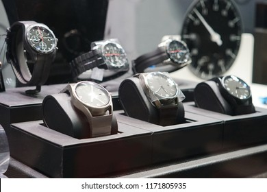 Luxury watches in a store in Milan