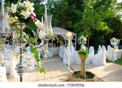 Wedding decoration images stock photos vectors shutterstock luxury wedding decor junglespirit Image collections