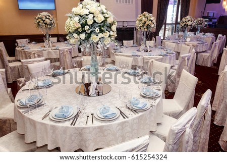 Luxury Wedding Decor Flowers Glass Vases Stockfoto Jetzt Bearbeiten