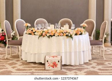 Luxury wedding setting for wedding