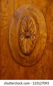 Luxury wooden door