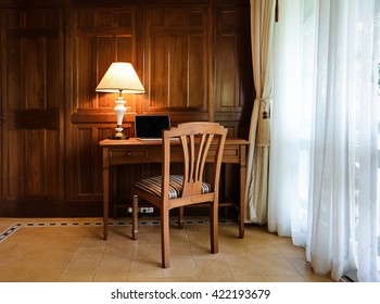 luxury working room interior