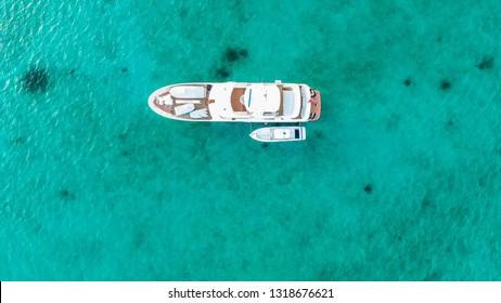 Luxury Yacht Anchored in Eleuthera Bahamas