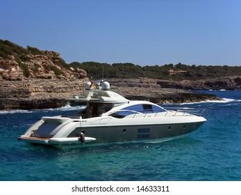 Luxury yacht in the coast of Majorca