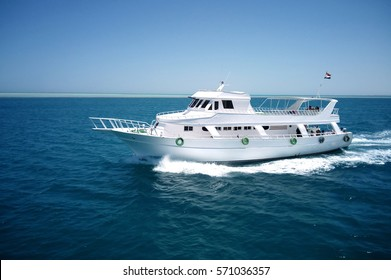 Luxury yacht in the Red Sea in Egypt