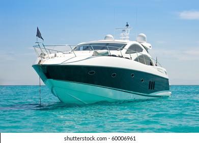 Luxury yacht. Sardinia, Italy.