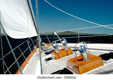 Luxury Yacht  Under Sail