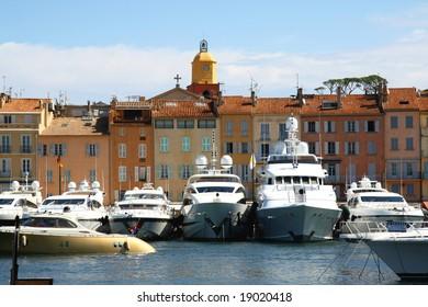 Luxury yachts in Saint Tropez