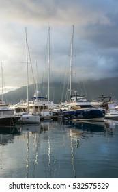 Luxury yachts in Tivat, Montenegro