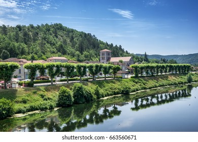 Luzech is a small village on the Lot river in the Lot Valley in south east France