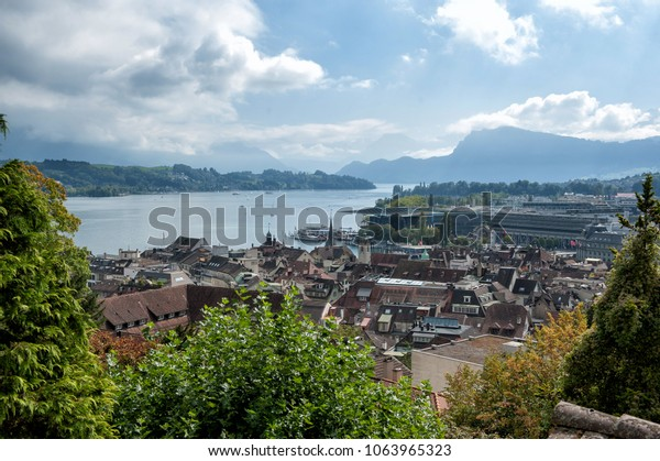 Luzern from the city wall