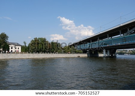 Luzhniki metro bridge, Moscow, Russian Federation