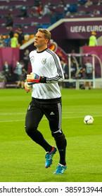 LVIV, 9 June 2012 - Manuel Neuer (Germany) during the final match of UEFA EURO 2012  in Lviv, Ukraine