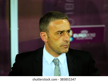 LVIV, 9 June 2012 - Portugal coach Paulo Bento during a UEFA EURO 2012 match against at the Arena Lviv in Lviv, Ukraine