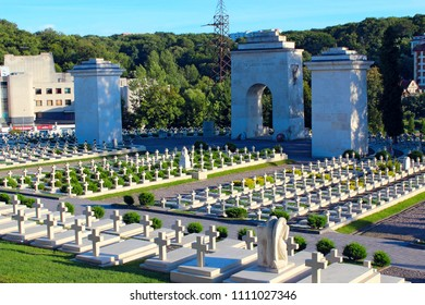 Lviv - circa August 2013 / Ukraine: Cemetery in Lviv. Graves of Polish soldiers at Lychakiv Cemetery in Lviv. Graves of Defenders of Lwow on Lychakiv Cemetery in Lviv