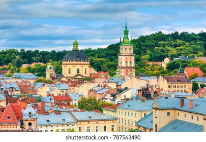 Lviv, city view, historical city center, Ukraine, Western Ukraine