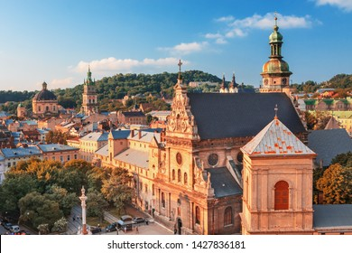 Lviv historival city center skyline, Wester Ukraine