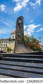 LVIV UKRAINE 07 19 17: Monument to works of Taras Hryhorovych Shevchenko was a Ukrainian poet, writer, artist, publicist and ethnographer