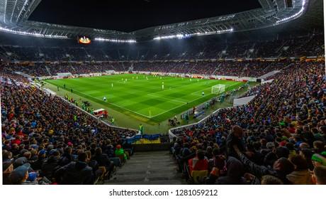 Lviv, Ukraine - April 14, 2016: UEFA Europe League, FC Shakhtar Donetsk (Ukraine) - SC Braga (Portugal)