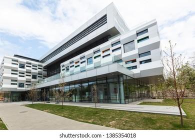 Lviv, Ukraine - April 18, 2019: The Metropolitan Andrey Sheptytsky Center in Lviv, Ukraine.