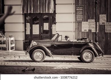 Lviv, Ukraine - August 16, 2017: Audi retro car in Lviv