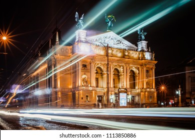 LVIV, UKRAINE - August  24, 2017: Lviv opera house