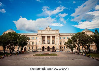 Lviv, Ukraine - August 30, 2017: Ivan Franko National University of Lviv