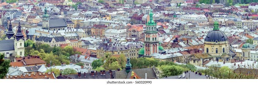 Lviv. Ukraine. Central part of Lvov.