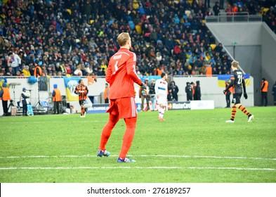 LVIV, UKRAINE - FEB 17: Manuel Neuer in the Champions League match between Shakhtar vs Bayern Munich, 17 February 2015, Arena Lviv, Lviv, Ukraine
