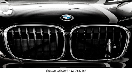Lviv, Ukraine - February 27, 2018: BMW emblem on a bmw car