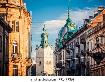 Lviv, Ukraine - January 6, 2017: Lviv, Latin cathedral