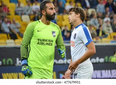 LVIV, UKRAINE - JUL 25: Volkan Babacan in action during the Europa League match between Shakhtar Donetsk vs Istanbul Basaksehir, 25 Jule 2016, Arena Lviv, Ukraine