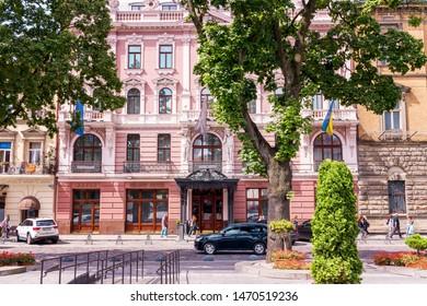 Lviv, Ukraine - July 16, 2019: Lviv UKRAINE Grand Hotel Lviv Ukraine