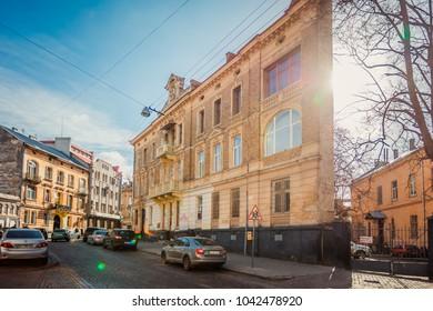 Lviv, Ukraine - July 17, 2017: Lviv street