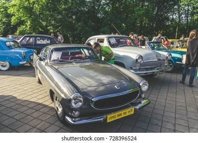 LVIV, UKRAINE - JUNE 04 , 2016 Luxury old vintage retro car Volvo on Leopolis Grand Prix.