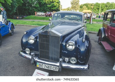 LVIV, UKRAINE - JUNE 04 , 2016 Luxury old vintage retro car on Leopolis Grand Prix.