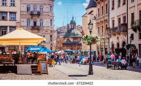 LVIV, UKRAINE - JUNE 20, 2017: Lviv city view
