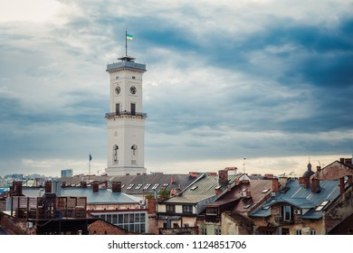 Lviv, Ukraine - June 20, 2018: Lviv city hall